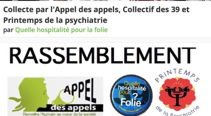 COLLECTE SUITE AU RASSEMBLEMENT DES PRATICIENS DU SOIN PSYCHIQUE – 2/5/21